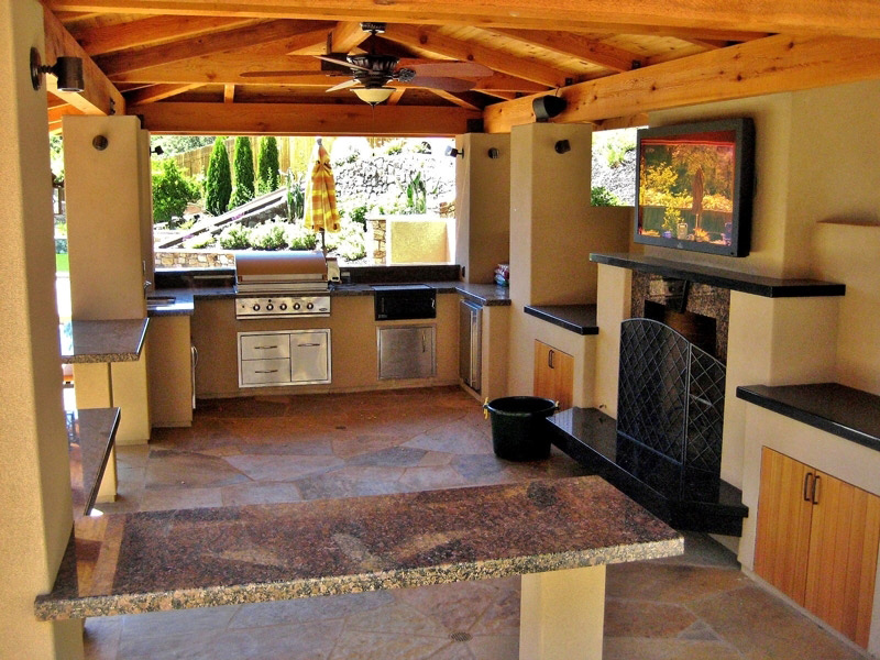outdoor kitchens creative environments landscape