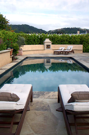 Beautiful deck and pool in Sonoma County